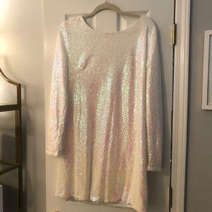 Charlotte Russe White Sequin Dress XL